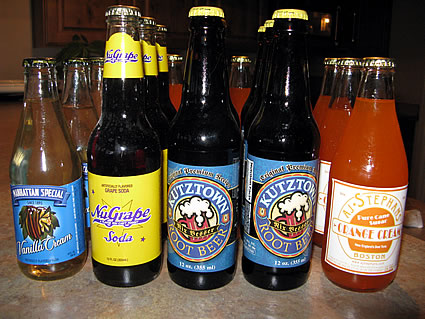 Specialty Sodas ordered from www.sodasamurai.com
